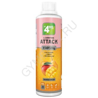4Me Nutrition L-carnitine + Guarana ATTACK 3600 500 мл манго-груша, шт., арт. 1308003