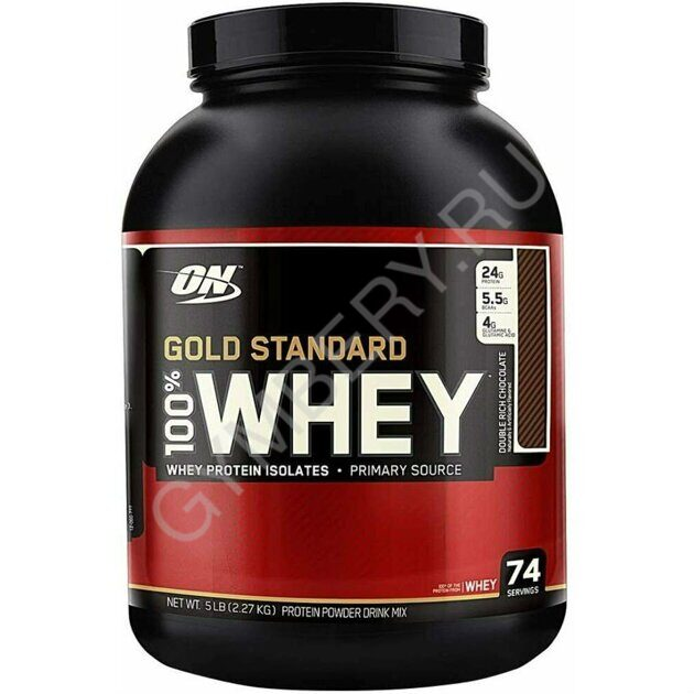 Optimum Nutrition 100 % Whey protein Gold standard 2270 г Double Rich Chocolate 1001002
