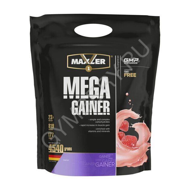 MXL. Mega Gainer 4540 g (10 lbs) - Strawberry
